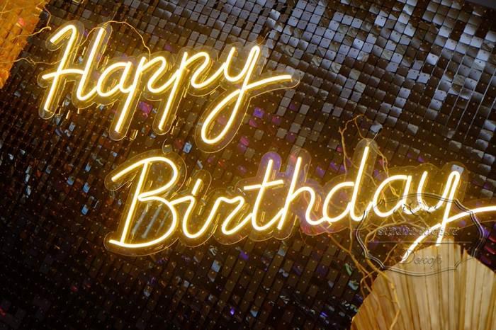 Надпись из гибкого неона - Happy Birthday